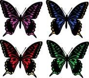 Four butterflies stock illustration
