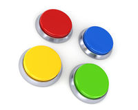 Four buttons Stock Images