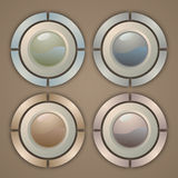 Four buttons Royalty Free Stock Photo