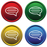 Four buttons with the message Stock Image