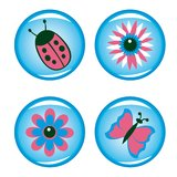 Four buttons for your design vector illustration