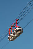 Four cabins of cable car Stock Photography
