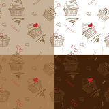 Four cakes pattern Royalty Free Stock Photo