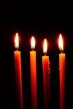Four candles Royalty Free Stock Photography