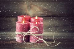 Fourth advent stock image