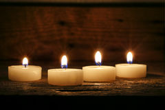 Four candles Royalty Free Stock Photo