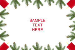 Four candles and fir branches Royalty Free Stock Photo