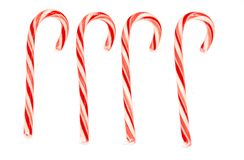 Four candy canes Stock Image