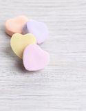 Four Candy Hearts Stock Image