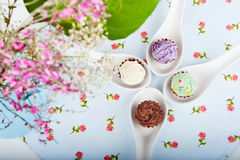 Four candies Stock Images