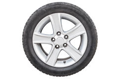 Four car tires on white background Stock Image