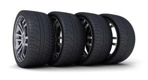 Four car wheel Royalty Free Stock Photo