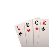 Four card. Luck concept Stock Photos