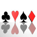 Four Card Suit Royalty Free Stock Photo
