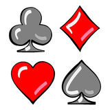 Four card suits. Cards deck. Stock Photo