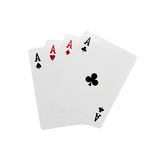 Four cards of Ace. Four playing cards of Ace Royalty Free Stock Photography