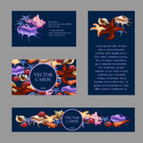 Four cards with an exemplary text Royalty Free Stock Images