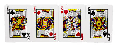 Four cards of King Royalty Free Stock Image