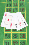 Four cards. Poker Stock Image