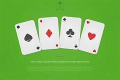 Four cards stock illustration