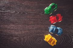 Four cars model rental Royalty Free Stock Images