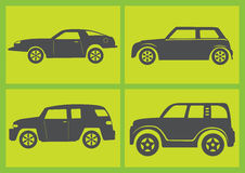 Four Cars Vector Illustration Stock Image