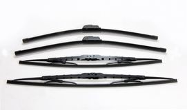 Four cars windshield wipers on a white background Royalty Free Stock Images