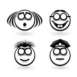 Four cartoon of abstract emotions Stock Photography