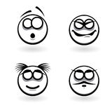 Four cartoon of abstract emotions. Stock Photography