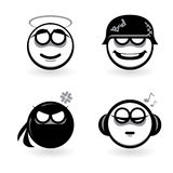 Four cartoon of abstract emotions. Stock Image