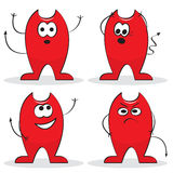 Four cartoon devils Stock Photos