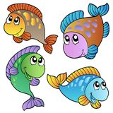 Four cartoon fishes Stock Photography