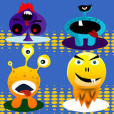 Four cartoon monster character Royalty Free Stock Images