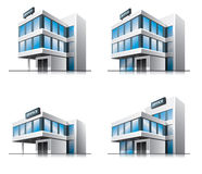 Four cartoon office  buildings. This illustration is EPS10  file and includes transparency multiply effects in shadows in separate layer Stock Image