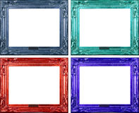 Four carved frames Royalty Free Stock Photo