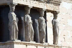 Four Caryatids Royalty Free Stock Photos
