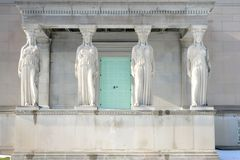 Four Caryatids in Chicago Stock Photos