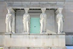 Four Caryatids in Chicago Stock Photos