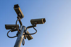 Four CCTV Royalty Free Stock Photos