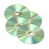 Four CDs, isolated Stock Photos