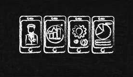 Four cellphone Stock Photos