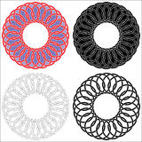 Four celtic circles Stock Images