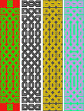 Four celtic knot borders Stock Photo