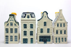 Four Ceramic Houses Royalty Free Stock Images
