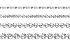 Four chains parallel to each other Stock Photos