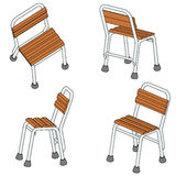 Four chair (3d) Royalty Free Stock Photos
