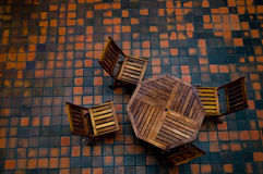 Four chairs and a table Stock Images