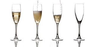 Four champagne Royalty Free Stock Photography