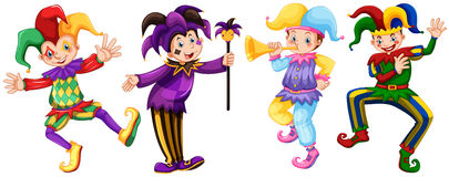 Four characters of jesters Stock Photo