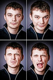 Four characters of man. Studio portraits Royalty Free Stock Photos